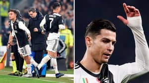 Cristiano Ronaldo Reportedly Leaves Ground After Being Subbed Off In 55th Minute
