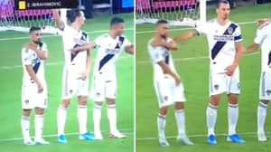 Zlatan Ibrahimovic Shoves His Own Teammate Out Of Wall In Los Angeles Derby