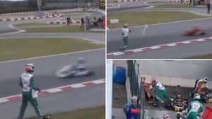 Luca Corberi Throws Bumper At Opposing Drivers In FIA KZ World Championship, Starts Brawl After Race