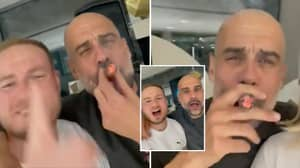 Pep Guardiola Singing 'Don't Look Back In Anger' By Oasis While Puffing On A Cigar Is Everything