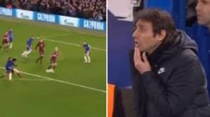 Antonio Conte Went Mental After Seeing Willian's Stunning Opener