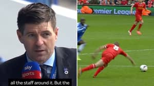 Sky Sports Savagely Mock Steven Gerrard's Lack Of Premier League Titles Without Even Realising During Interview