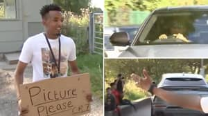 Fan Waits Outside Training Ground From 6am To Meet Cristiano Ronaldo, It Doesn't Go To Plan