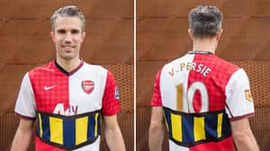 Robin Van Persie Gets A Special Mashup Shirt To Celebrate His Football Career