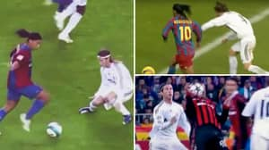 Compilation Shows How Prime Ronaldinho Made Sergio Ramos 'Look Like An Amateur' In One-On-One Duels