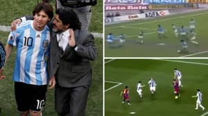 Video Of Lionel Messi And Diego Maradona Doing The Same Moves Is Football Poetry