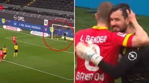 Borussia Dortmund Goalkeeper Roman Burki Let Lars Bender Score Penalty In His Final Game
