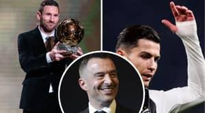 Cristiano Ronaldo's Agent Slams Decision To Give Lionel Messi The Ballon D'Or