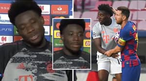 Lionel Messi Was Too Upset To Swap Shirts With Alphonso Davies