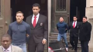Conor McGregor Shown Being Taken Out Of New York Police Station