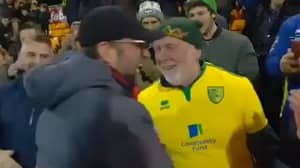 Norwich Fans Clamoured To Have Photos With Jurgen Klopp After The Game