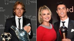 Cristiano Ronaldo's Sister Uploaded A Very Salty Instagram Post After Luka Modric Won UEFA Award
