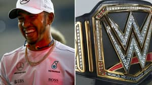 Lewis Hamilton Awarded WWE Title Belt For Winning F1 Championship