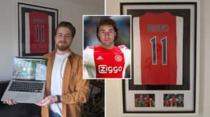Man Has Framed Shirt Dedicated To Football Manager Newgen In His Living Room
