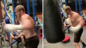 Logan Paul Is Already Working On His Boxing Technique In Training