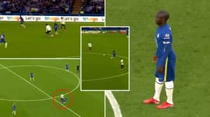 Compilation Of N'Golo Kante's Masterclass Vs. Spurs Proves He's A Cheat Code