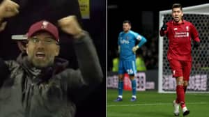 People Have Lipread What Jurgen Klopp Shouted While Celebrating Roberto Firmino's Goal