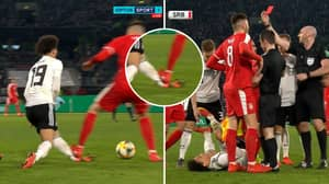 Leroy Sane Is On The Receiving End Of Horror Challenge Against Serbia