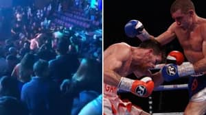 West Ham And Millwall Fans Clash During Boxing Fight