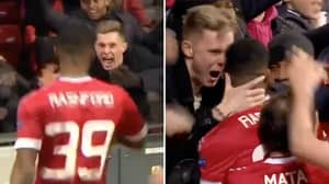 Dean Henderson Was In The Crowd When Marcus Rashford Scored His First Ever Manchester United Goal