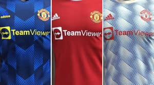 Manchester United's Proposed Home, Away And Third Kits Leaked Ahead Of 2021/22 Season
