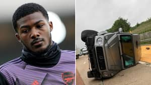 Arsenal's Ainsley Maitland-Niles Involved In Serious Road Accident And Flips £105,000 Mercedes