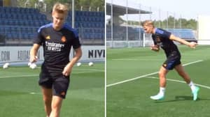 Arsenal Fans Hope They've Spotted Clue In Real Madrid Training For Martin Odegaard Return