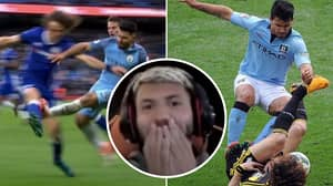 Sergio Aguero Reacts To His Worst Ever Tackles - With David Luiz Standing Out