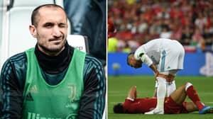 Giorgio Chiellini Has Claimed Sergio Ramos' Foul On Mo Salah Was A Masterstroke