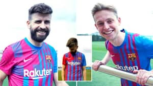 Barcelona Drop Their New Home Kit For The 2021/22 Season And The Half-And-Half Shorts Are Very Unusual