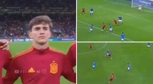 Fans React As 17-Year-Old Gavi Lights Up Spain V Italy Clash On His International Debut