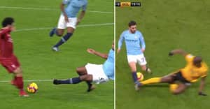 Fans Have Mixed Reaction After Willy Boly Shown Red Card For Tackle On Bernardo Silva