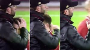 Xherdan Shaqiri Completely Disappears Into Jürgen Klopp's Coat And We're So Confused
