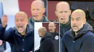 Mike Dean Chews Gum While Pep Guardiola Rages Over James Milner Tackle