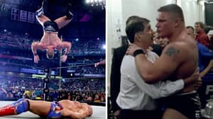 When A Concussed Brock Lesnar Lost His Cool Backstage After Almost Breaking His Neck At Wrestlemania