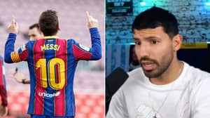 Sergio Aguero Reveals Why He Rejected Lionel Messi's No.10 Shirt At Barcelona