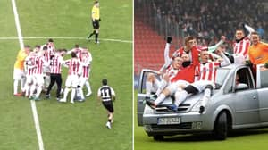 Polish Side Surround Ball, Walk It Towards The Goal And Celebrate In Style