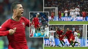 On This Day: Cristiano Ronaldo Scores Superb Hat-Trick Against Spain At 2018 World Cup