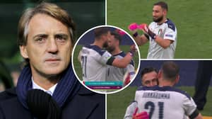 Roberto Mancini Is 'Having A Laugh' After Subbing Off Gianluigi Donnarumma In 89th Minute vs Wales