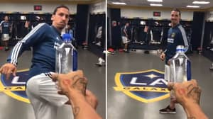 Zlatan Ibrahimovic Joins In On The Bottle Cap Challenge
