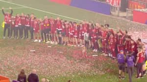 Liverpool Players Sang 'You'll Never Walk Alone' After Lifting Premier League Trophy At Anfield