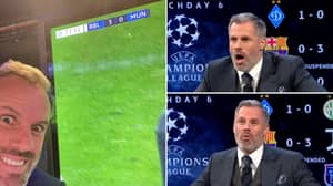 Jamie Carragher Was On Top Form While Covering Manchester United's Champions League Exit
