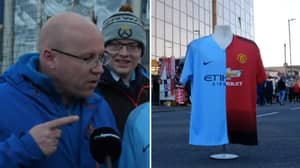 Manchester United And City Fans Aren't Impressed With Half And Half Kit