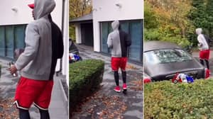 Paul Pogba Is Even Walking To His Car Using The Penalty Run-Up Technique