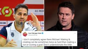 Cesc Fabregas Dismantles Michael Owen's Claim It's 'Harder To Score Goals Than Assist' With Brilliant Response