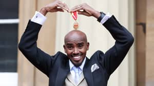 Olympic Champion Mo Farah Knighted By The Queen At Buckingham Palace