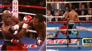 When Floyd Mayweather Nearly Got KO'd Before Winning Every Round Of Fight