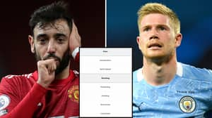 Bruno Fernandes Vs Kevin De Bruyne: The 29 FIFA 21 Stats That Decide Who Is The Better Player