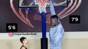 New Video Emerges Of 7-Foot-9-Inch Teenager Abiodun Adegoke Dunking Without Jumping