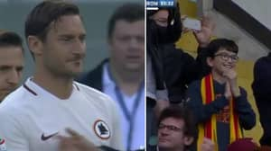 WATCH: The Smile On This Kids Face When He Sees Totti Is Priceless